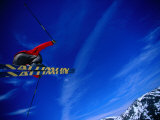 Skier Jumping on a Quarter Pipe, Stryn, Sogn Og Fjordane, Norway Photographic Print by Christian Aslund