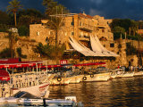 Boats on Waterfront, Byblos, Jabal Lubnan, Lebanon Photographic Print by Jane Sweeney