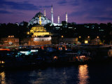 Sulemaniye Mosque from the Eminonu District, Istanbul, Turkey Photographic Print by Greg Elms