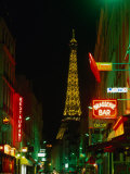 Eiffel Tower from Rue St. Dominique at Night Paris, France Photographic Print by John Hay