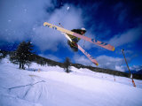 Skier Jumping in Half Pipe, Risoul, Haute-Normandy, France Photographic Print by Christian Aslund
