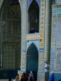 People Visiting Shrine of Hazrat Ali (Blue Mosque), Mazar-E Sharif, Afghanistan Photographic Print by Stephane Victor
