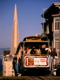 Cable Car on Nob Hill with Transamerica Building in Background, San Francisco, U.S.A. Photographic Print by Thomas Winz