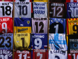 Soccer Shirts for Sale in Piazza Della Repubblica, Florence, Tuscany, Italy Photographic Print by Dallas Stribley