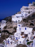 White Cliff-Side Houses, Oia, Santorini Island, Southern Aegean, Greece Photographic Print by Jan Stromme