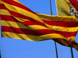 Catalan Flag, Barcelona, Spain Photographic Print by Neil Setchfield