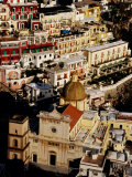 Church of Santa Maria Assunta and Colourful Houses, Positano, Italy Photographic Print by Craig Pershouse