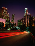 Dusk Lights Over the City, Los Angeles, California, USA Photographic Print by Jan Stromme