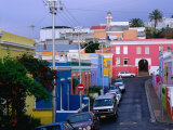 Bo-Kaap, Chiappini Street, Muslim Cape-Malay Area, Wide Angle, Cape Town, South Africa Photographic Print by Ariadne Van Zandbergen