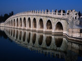 Seventeen Arch Bridge at Summer Palace Bejing, China Photographic Print by Glenn Beanland