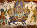 Frescoes on Walls of Inner Courtyard, Brihadishwara Temple, Thanjavur, India Photographic Print by Eddie Gerald