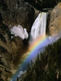 Rainbow Over Lower Falls, Yellowstone National Park, Wyoming, USA Photographic Print by Stephen Saks