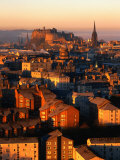 Edinburgh Castle and Old Town Seen from Arthur's Seat, Edinburgh, United Kingdom Photographic Print by Jonathan Smith