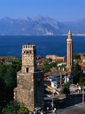 Buildings with Harbour in Background, Antalya, Turkey Photographic Print by Izzet Keribar