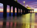 Manhattan Beach Pier, Los Angeles, Los Angeles, California, USA Photographic Print by Richard Cummins