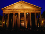 Pantheon Illuminated at Night, Rome, Italy Photographic Print by Glenn Beanland