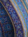 Moasic Detail of Iranian Mosque, Dubai, United Arab Emirates Photographic Print by Phil Weymouth