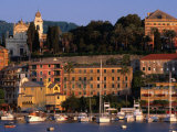 Buildings on Waterfront, Santa Margherita, Liguria, Italy Photographic Print by Stephen Saks