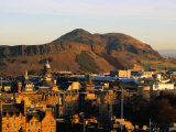 Holyrood Park and Arthur's Seat Seen from Edinburgh Castle, Edinburgh, United Kingdom Photographic Print by Jonathan Smith