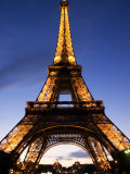 The Eiffel Tower at Dusk, Paris, France Photographic Print by Glenn Beanland