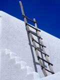 Architectural Detail with Ladder, Taos, New Mexico, USA Photographic Print by Richard Cummins