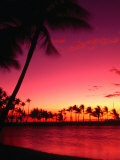 Sunset at Anaehoomalu on the Kohala Coast, Waikoloa, Hawaii (Big Island), Hawaii, USA Photographic Print by Ann Cecil