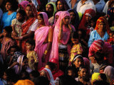 Crowd of Women in Traditional Dress, Jaisalmer, Rajasthan, India Photographic Print by Greg Elms