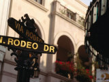 Rodeo Drive Street Sign in Beverley Hills, Los Angeles, USA Photographic Print by Rick Gerharter