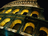 Colosseum Illuminated at Night Rome, Italy Photographic Print by Glenn Beanland