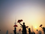 Morning Tai Chi Exercise in the Bund, Shanghai, China Photographic Print by Ray Laskowitz