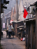 Bicycle-Cart Rider in Xiaojiao Hutong, Dongcheng District Bejing, China Photographic Print by Phil Weymouth