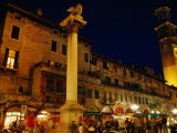 Piazza Delle Erbe, Historic Heart of the City, Verona, Veneto, Italy Photographic Print by Glenn Beanland