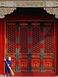 Cleaner Sweeps Steps Inside the Forbidden City, Beijing, China, Photographic Print by Phil Weymouth