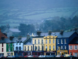 Colourful Houses on Misty Day, Bantry, Ireland Photographic Print by Oliver Strewe