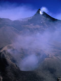 Smoke Coming from Volcano Caldera, Mt. Etna, Italy Photographic Print by Bethune Carmichael