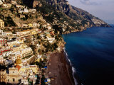 Houses and Church of Santa Maria Assunta Above Spaggia Grande Beach, Positano, Italy Photographic Print by Craig Pershouse