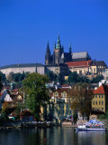 Old Town and Hradcany Castle, Prague, Central Bohemia, Czech Republic Photographic Print by Jan Stromme