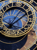 Astronomical Clock Detail in Staromestske Square, Prague, Czech Republic Photographic Print by Richard Nebesky