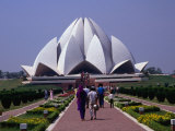 Baha'i House of Worship (Lotus Temple), Delhi, India Photographic Print