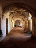 Inner Courtyard of the 16th Century Capuchinas Church and Monastery,Sacatepequez, Guatemala Photographic Print by Greg Johnston