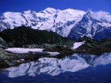 Reflection of Mont Blanc in Mountain Lake, Chamonix Valley, Rhone-Alpes, France Photographic Print by Gareth McCormack