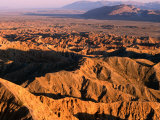 Late Afternoon Light Over Borrego Badlands, Anza-Borrego Desert State Park, California, USA Photographic Print by Stephen Saks