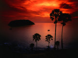 A Fiery Tropical Sunset at Prohmthep Cape, Phuket, Thailand Photographic Print by Anders Blomqvist