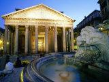 Pantheon at Dusk, Rome, Lazio, Italy Fotodruck von Christopher Groenhout