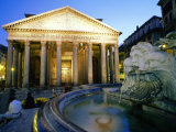 Pantheon at Dusk, Rome, Lazio, Italy Photographic Print by Christopher Groenhout