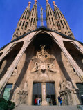Main Entrance to La Sagrada Familia, Barcelona, Spain Photographic Print by Anders Blomqvist