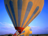 A Hot Air Ballon About to Fly Over the Cappadocia Landscape, Cappadocia, Nevsehir, Turkey Photographic Print by Wes Walker