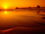 Oceanside Pier at Sunset, North County, San Diego, United States of America Photographic Print by Richard Cummins