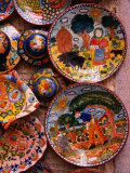 Colourful Souvenir Plates, Portugal Photographic Print by Wayne Walton