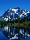 Mt. Shuksan Reflected in Picture Lake, Mt. Baker Scenic Byway, USA Photographic Print by John Elk III